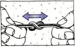 нахлыстовый узел Double Surgeon's Knot