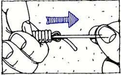 нахлыстовый узел Albright Knot