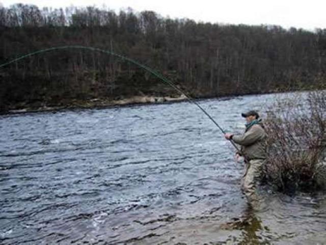 Ловля нахлыстом при высоком уровне и низкой температуре воды
