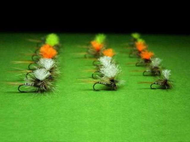 нахлыстовые мушки в стиле «парашют»